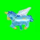Balon Jednorożec  niebieski -35cm