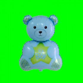 Balon misiu niebieski -boy-30 cm