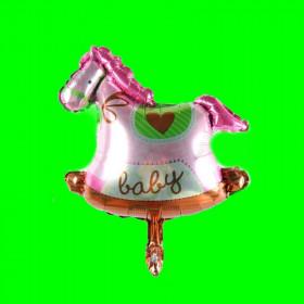 Balon konik różowy-35 cm