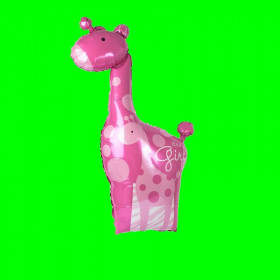 Balon żyrafa-różowa-14 cali