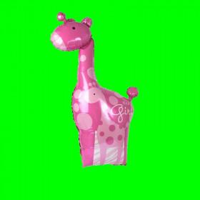 Balon żyrafa-różowa-30 cm