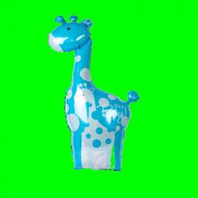 Balon żyrafa-niebieska-30 cm