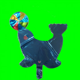 Balon foka niebieska
