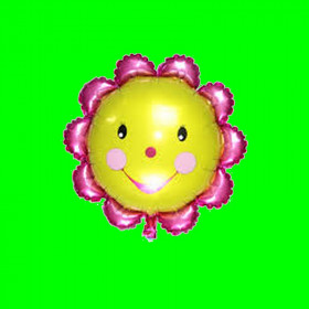Balon kwiatek różowy-14 cali