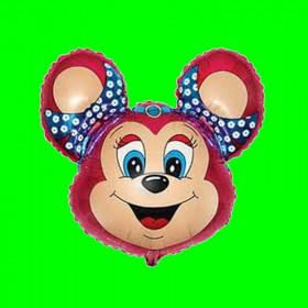 Balon włoski głowa myszki mini czerwona-30cm