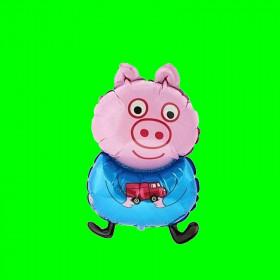 Balon świnka pepa na patyk