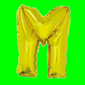 balon-litera-M-złota