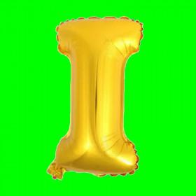 balon-litera-I-złota