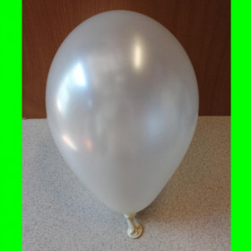 """Balon perłowy biały-12""""-1szt"""