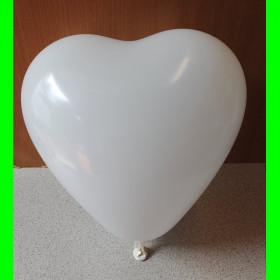 """Balon serce białe-12""""-1szt"""