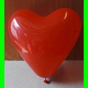 balon serce czerwone-30 cm-1szt