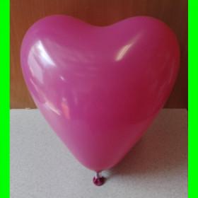 Balon serce bordowe-30 cm-1szt