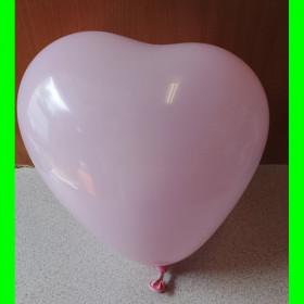 Balon serce różowe-30 cm-1szt