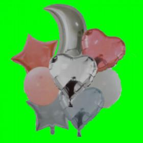 Balon zestaw-8 szt  różowy