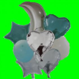 Zestaw balonów -8 szt niebieski