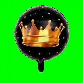 Balon korona czarna