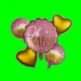 Zestaw 5 balonów Oh Baby Róż