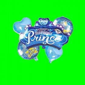Zestaw 5 balonów Prince Niebieski