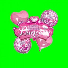 Zestaw 5 balonów Princess Róż