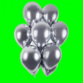 Balony chrom srebrny -  op. 3 szt