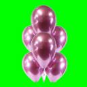 Balon chrom różowy -30 cm- op. 3 szt