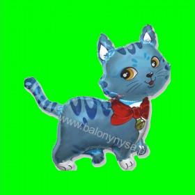 Balon włoski niebieski kotek - 30 cm