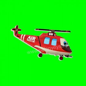 Balon włoski helikopter czerwony -30 cm