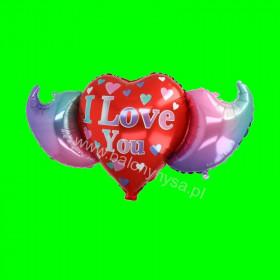 Balon foliowy Love ze skrzydłami