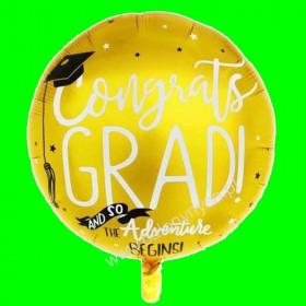 Balon foliowy Złoty Gratulacje