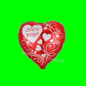 Balon foliowy serce I Love You 45x45cm