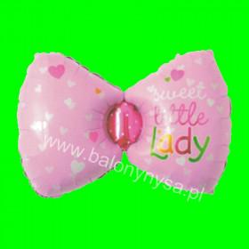 Balon kokarda różowa 75x40 cm