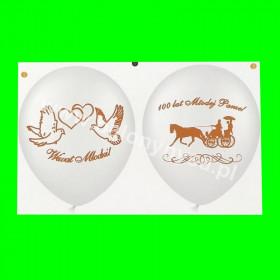 Balon dwustronny Wiwat Młodzi , 1 op - 6 szt, 30 cm