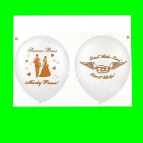Balon dwustronny Szczęść Boże, 1 op - 6 szt 30 cm