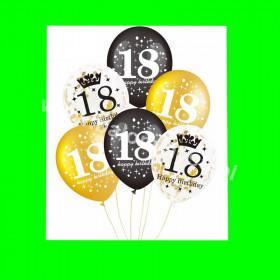 Zestaw balonów na 18 , 1 op - 6 szt , 30 cm