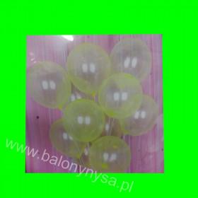 Balony crystallic żółty, 1 op - 12 szt, 30 cm