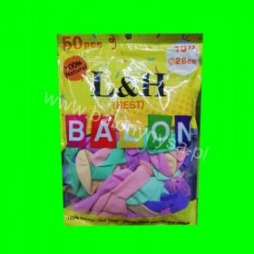 Balony makarony mix kolorów, 1op- 50 szt , 26 cm