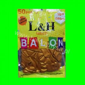 Balony macarony złote, 1 op - 50 szt , 26cm
