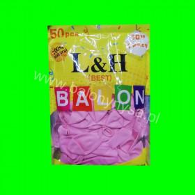 Balony macarony różowe,1op - 50 szt , 26cm