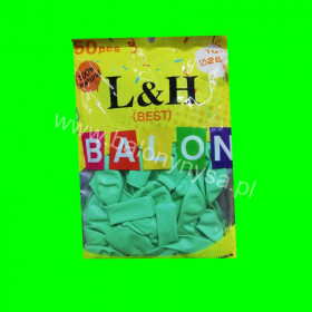 Balony macarony miętowe, 1 op -50 szt, 26cm