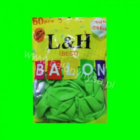 Balony macarony zielone, 1 op - 50 szt , 26cm