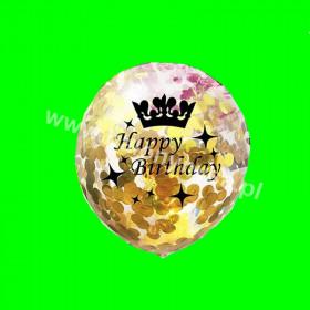 Zestaw balonów Happy Birthday z konfetti, 1 op - 3szt , 30cm