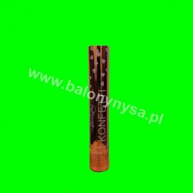 Tuba konfetti- 30 cm  serduszka różowe -złoto