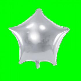 Balon gwiazdka  szara