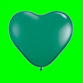 Balon serca-zielone op-100 szt