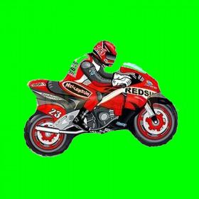 Balon włoski motor czerwony-30 cm