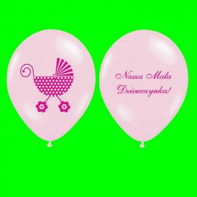 Balon pomarańczowy-mała dziewczynka-op-6 szt
