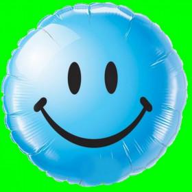 Balon Emotikon  - niebieski