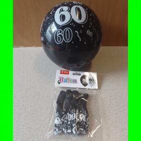 Balon czarny -60-op-5 szt-30 cm