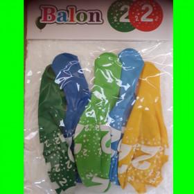 Balon kolorowy-CH-cyfrą-2-op-5 szt
