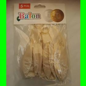 Balon bezbarwny serca białe-30 cm
